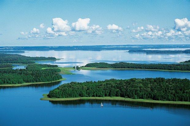 Panorama jeziora Mamry