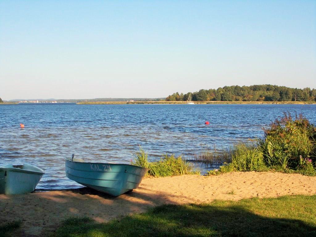 Noclegi nad jeziorem Swięcajty, Mazury, Kal, plaża nad jeziorem