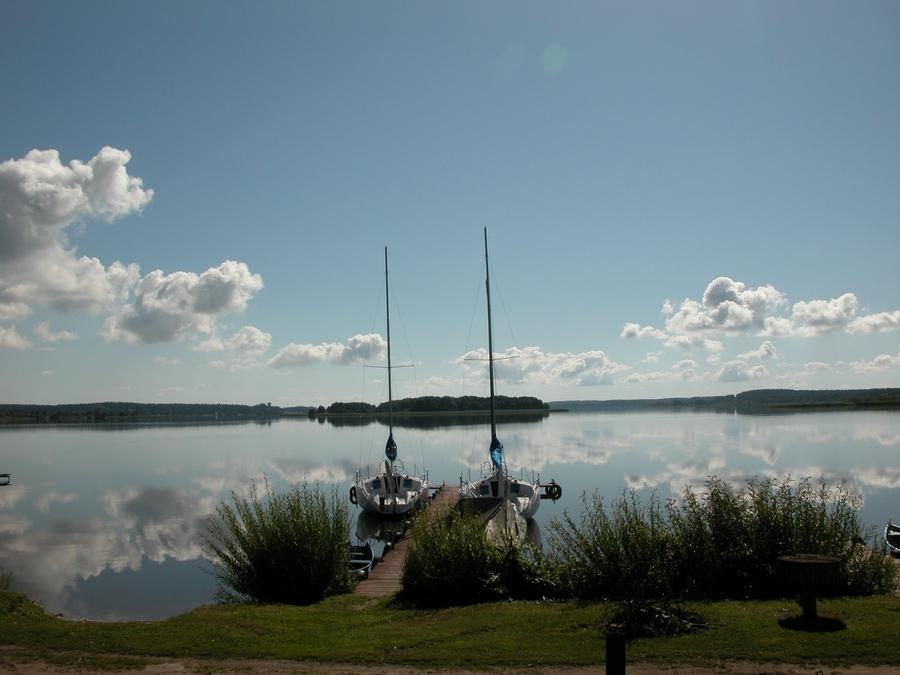 Mazury, domki nad jeziorem,
