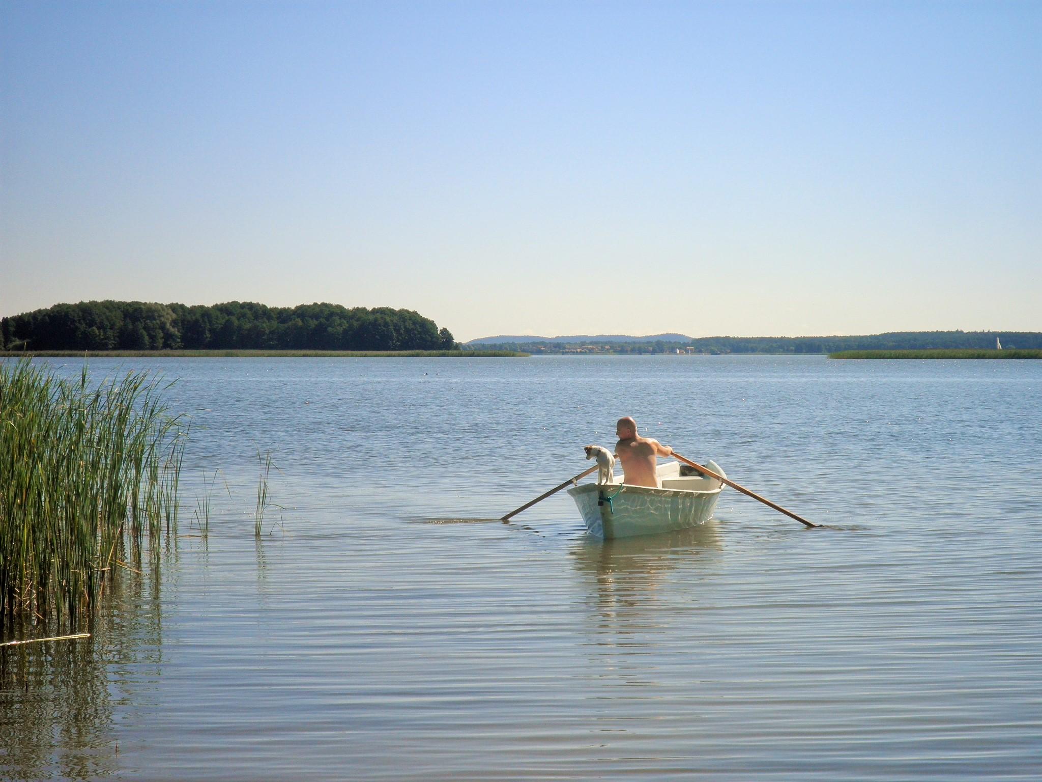 Za pan brat z mazurska naturą, jezioro Święcajty