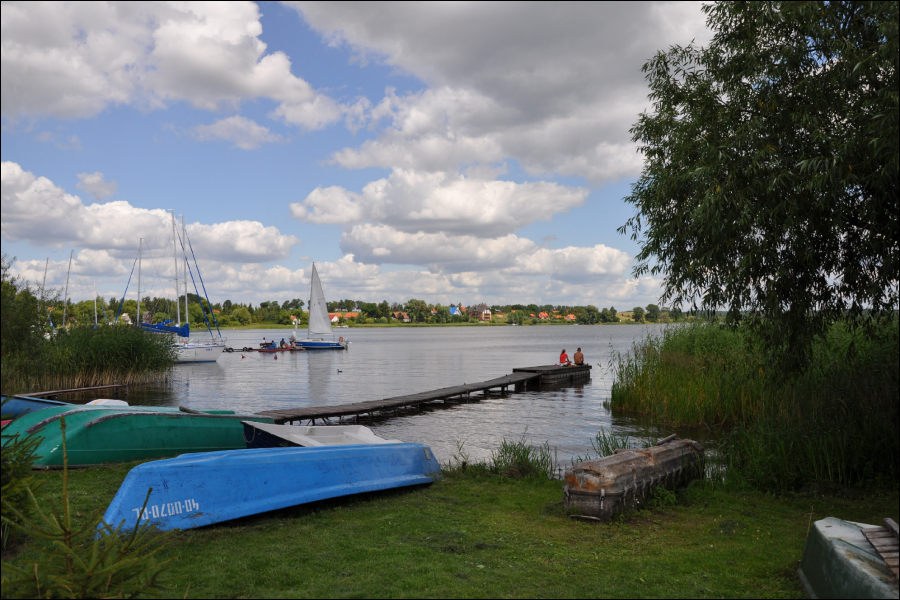 Widok na jezioro Święcajty