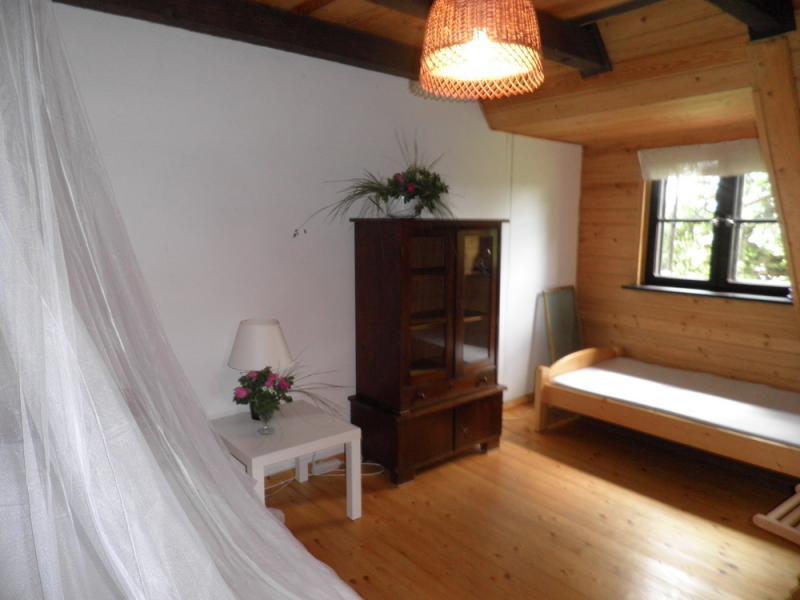 Mazury, domki nad jeziorem, sypialnia