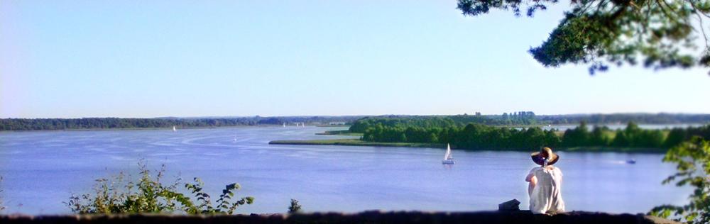 Panorama na jezioro Świecajty